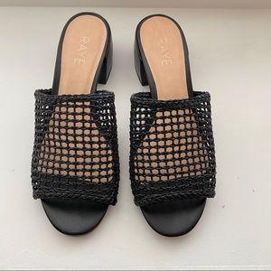Raye black heeled sandals
